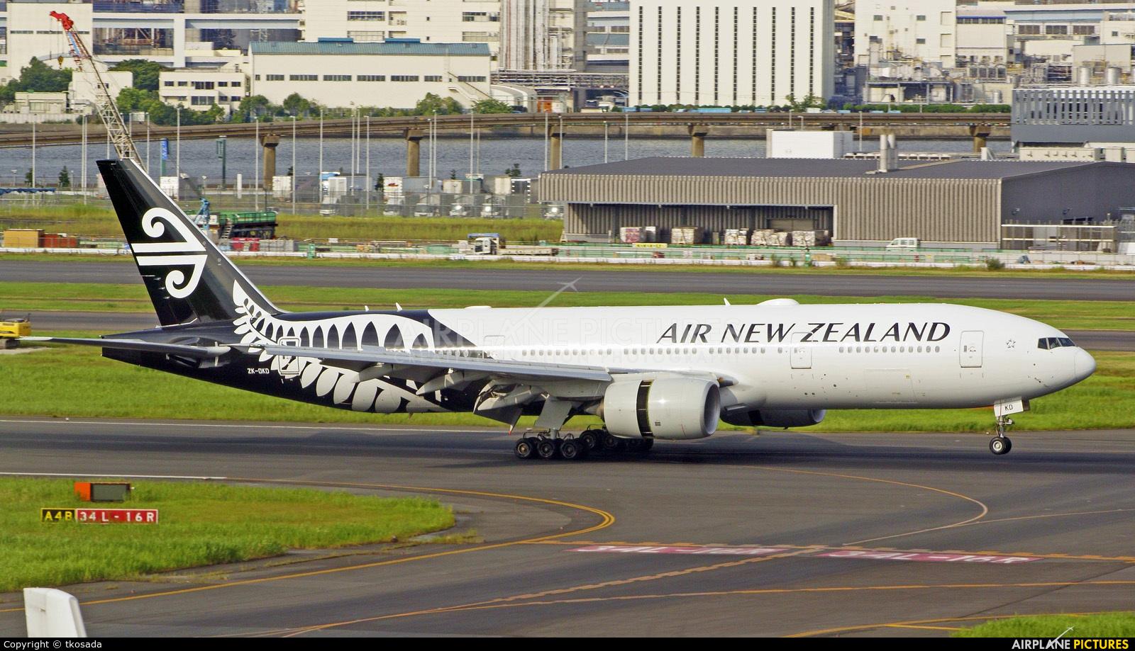 Air New Zealand ZK-OKD aircraft at Tokyo - Haneda Intl