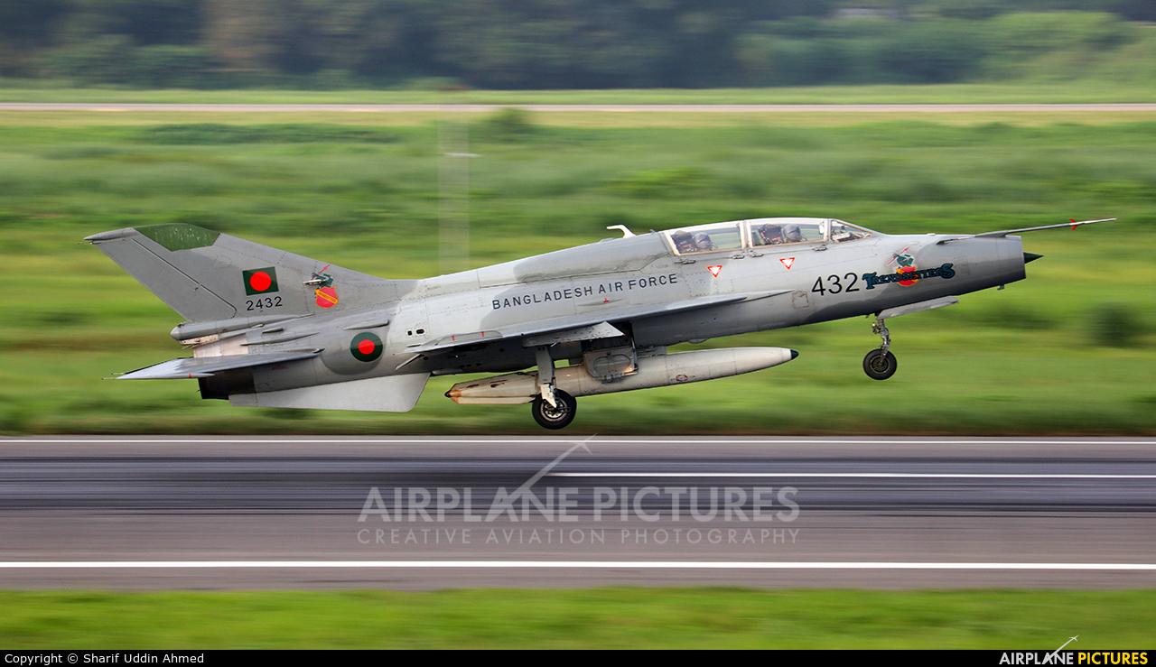 Bangladesh - Air Force 2432 aircraft at Dhaka - Hazrat Shahjala Intl