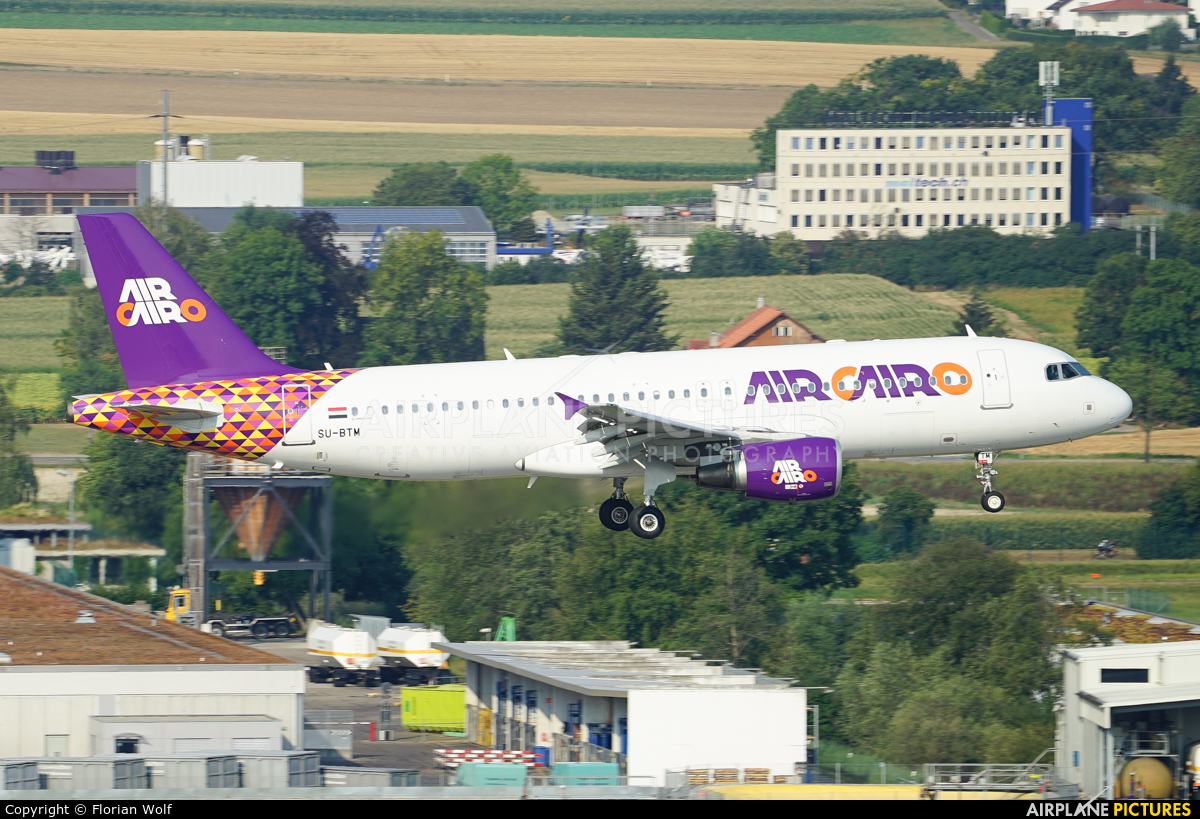 Air Cairo SU-BTM aircraft at Zurich