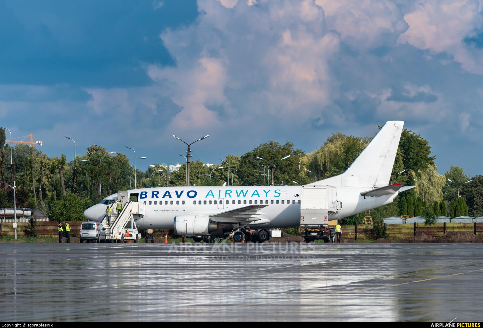 Bravo Airways UR-CGY aircraft at Kiev - Zhulyany