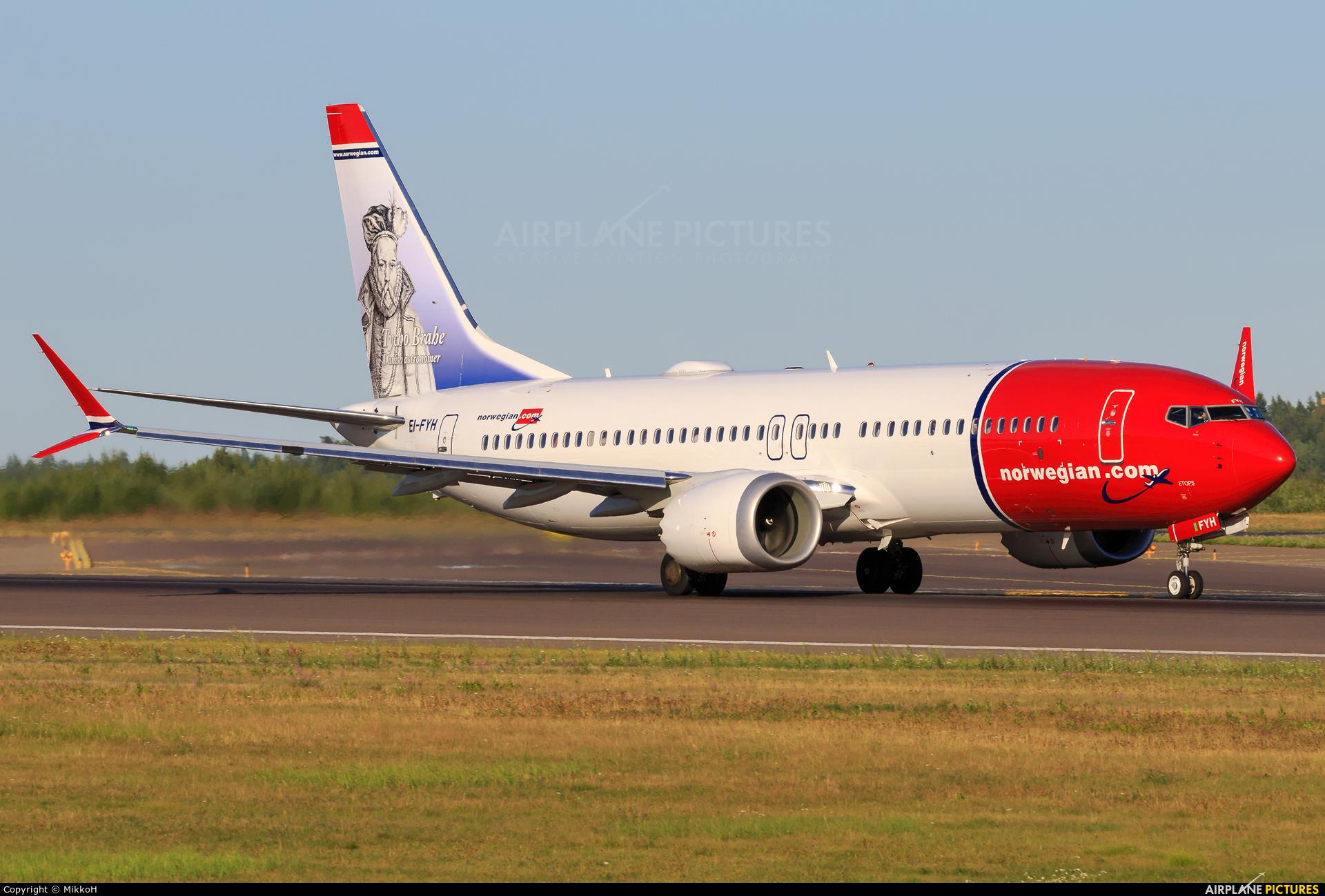 Norwegian Air Shuttle EI-FYH aircraft at Helsinki - Vantaa