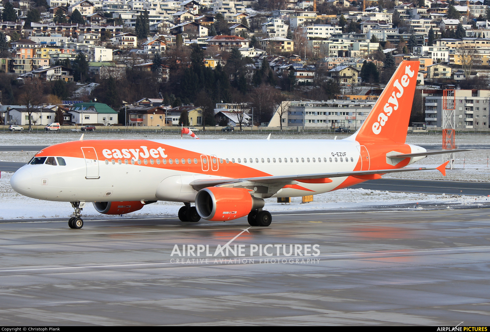 easyJet G-EZUF aircraft at Innsbruck