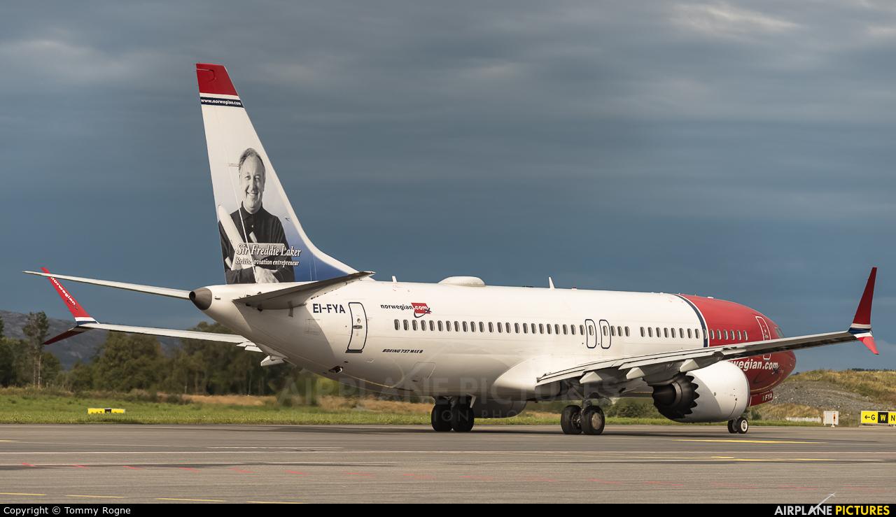Norwegian Air International EI-FYA aircraft at Bergen - Flesland
