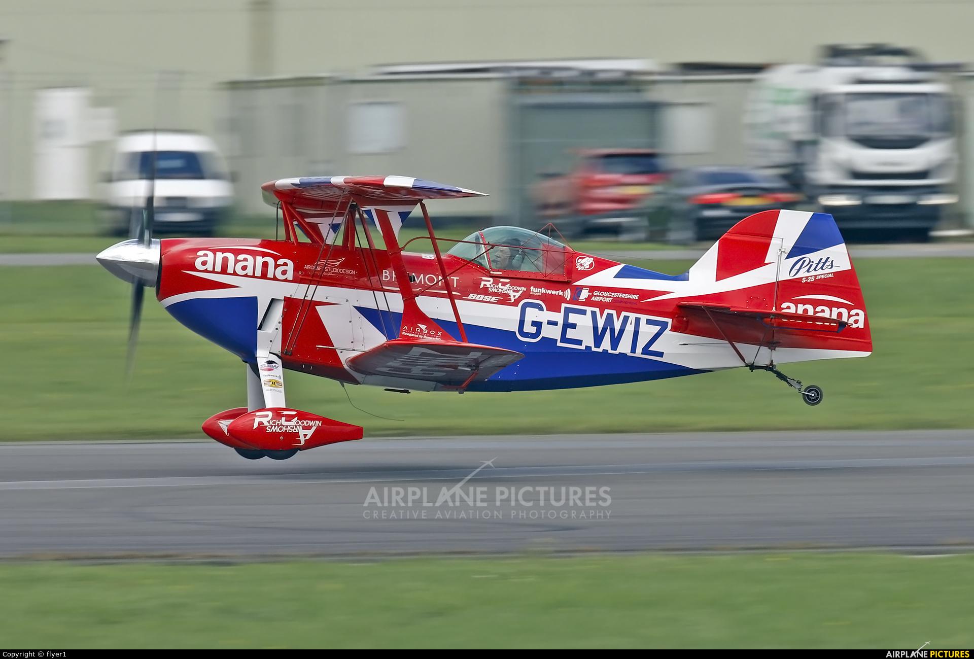 Rich Goodwin Airshows G-EWIZ aircraft at Dunsfold