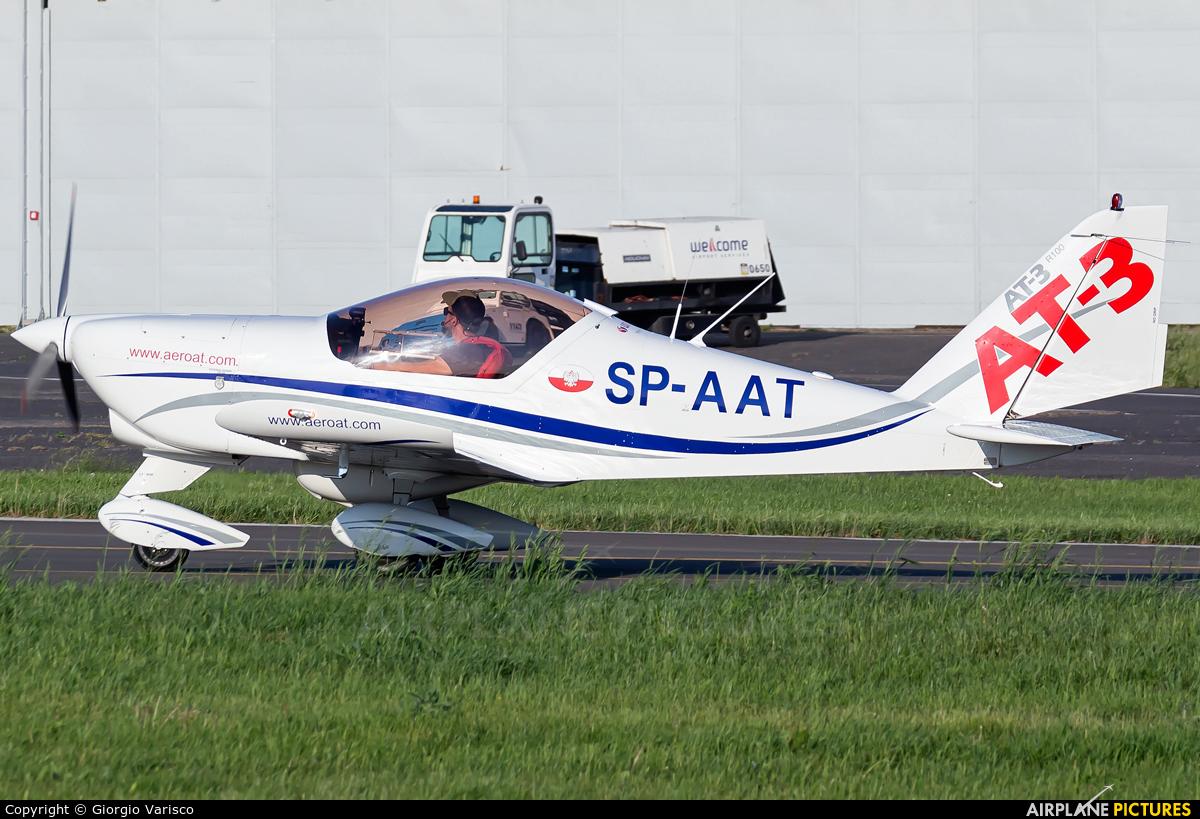Private SP-AAT aircraft at Poznań - Ławica