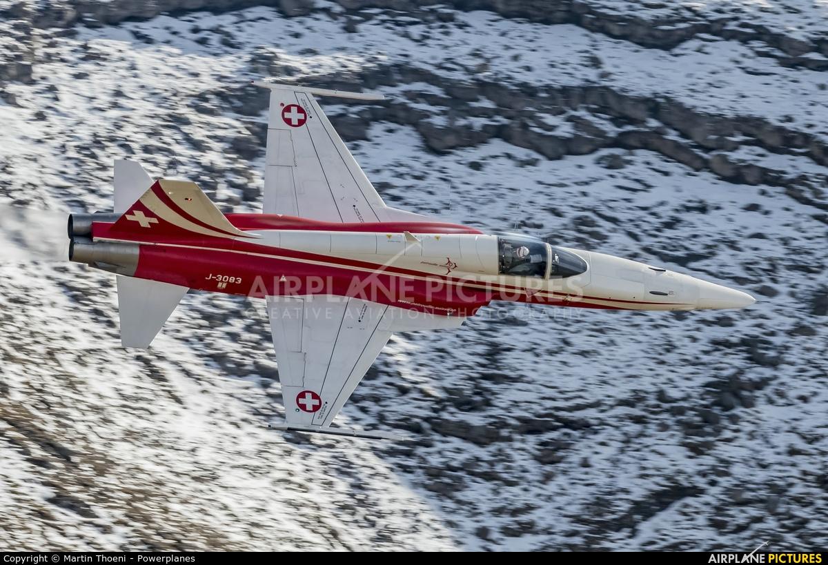 Switzerland - Air Force:  Patrouille de Suisse J-3083 aircraft at Axalp - Ebenfluh Range
