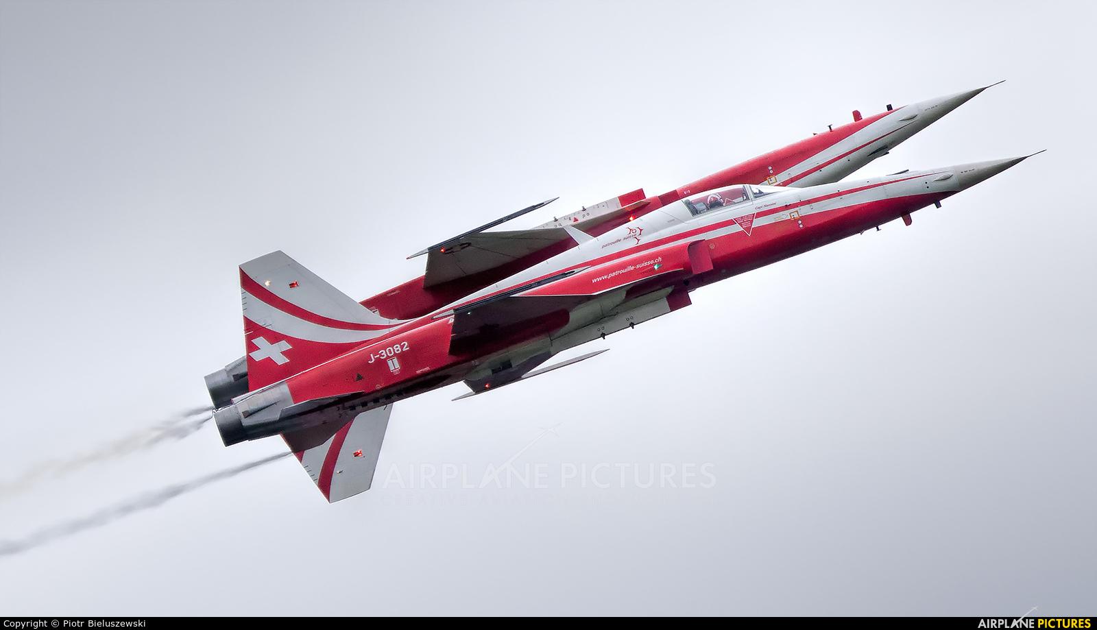Switzerland - Air Force:  Patrouille de Suisse J-3082 aircraft at Radom - Sadków