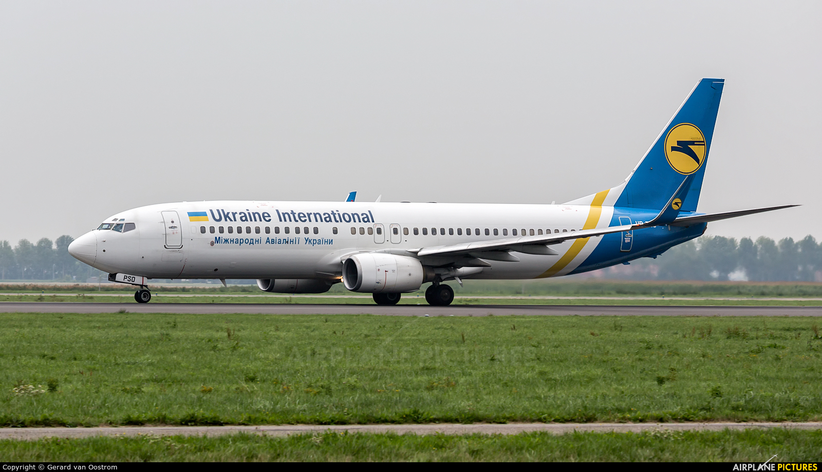 Ukraine National Airlines UR-PSO aircraft at Amsterdam - Schiphol