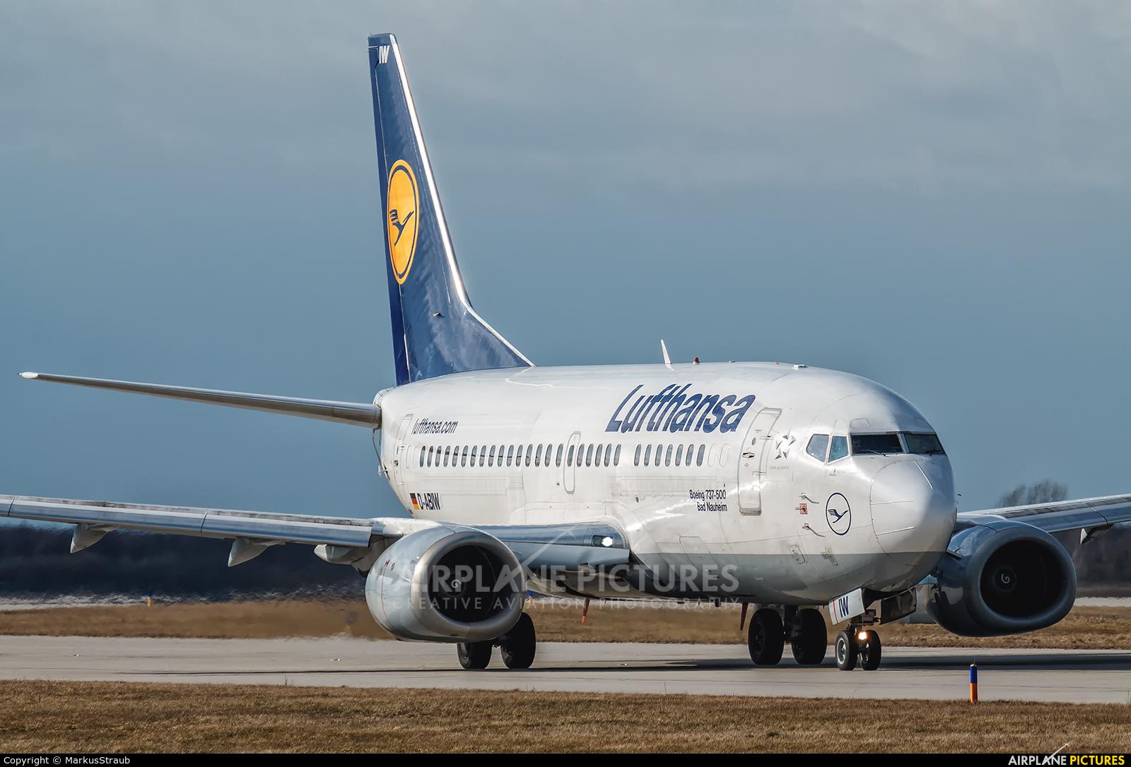 Lufthansa D-ABIW aircraft at Leipzig - Halle