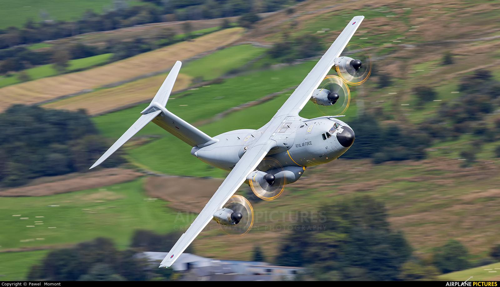 Royal Air Force ZM417 aircraft at Machynlleth Loop - LFA 7