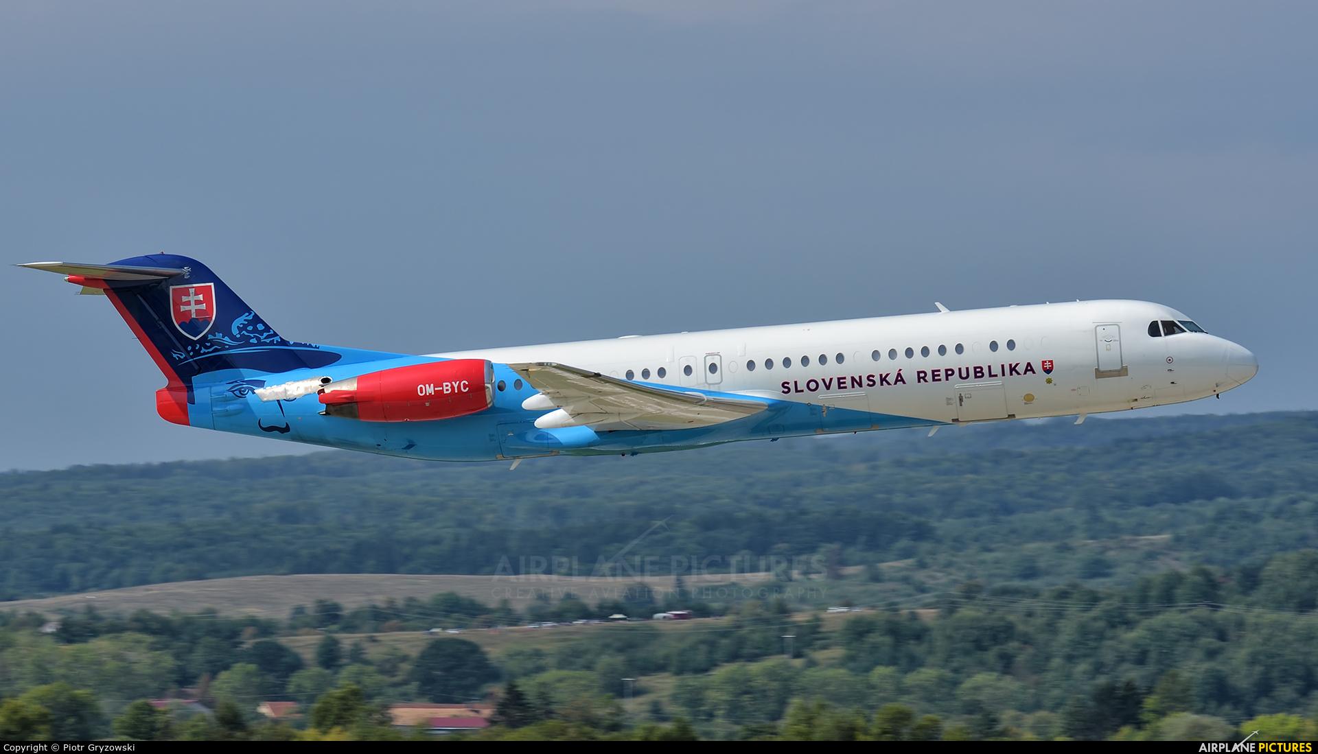 Slovakia - Government OM-BYC aircraft at Sliač