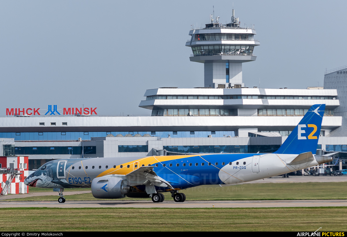 Embraer PR-ZGQ aircraft at Minsk Intl