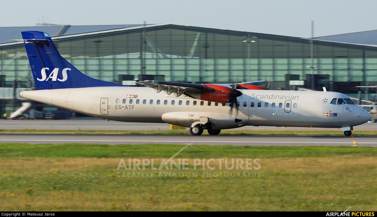 SAS - Scandinavian Airlines ES-ATF aircraft at Gdańsk - Lech Wałęsa
