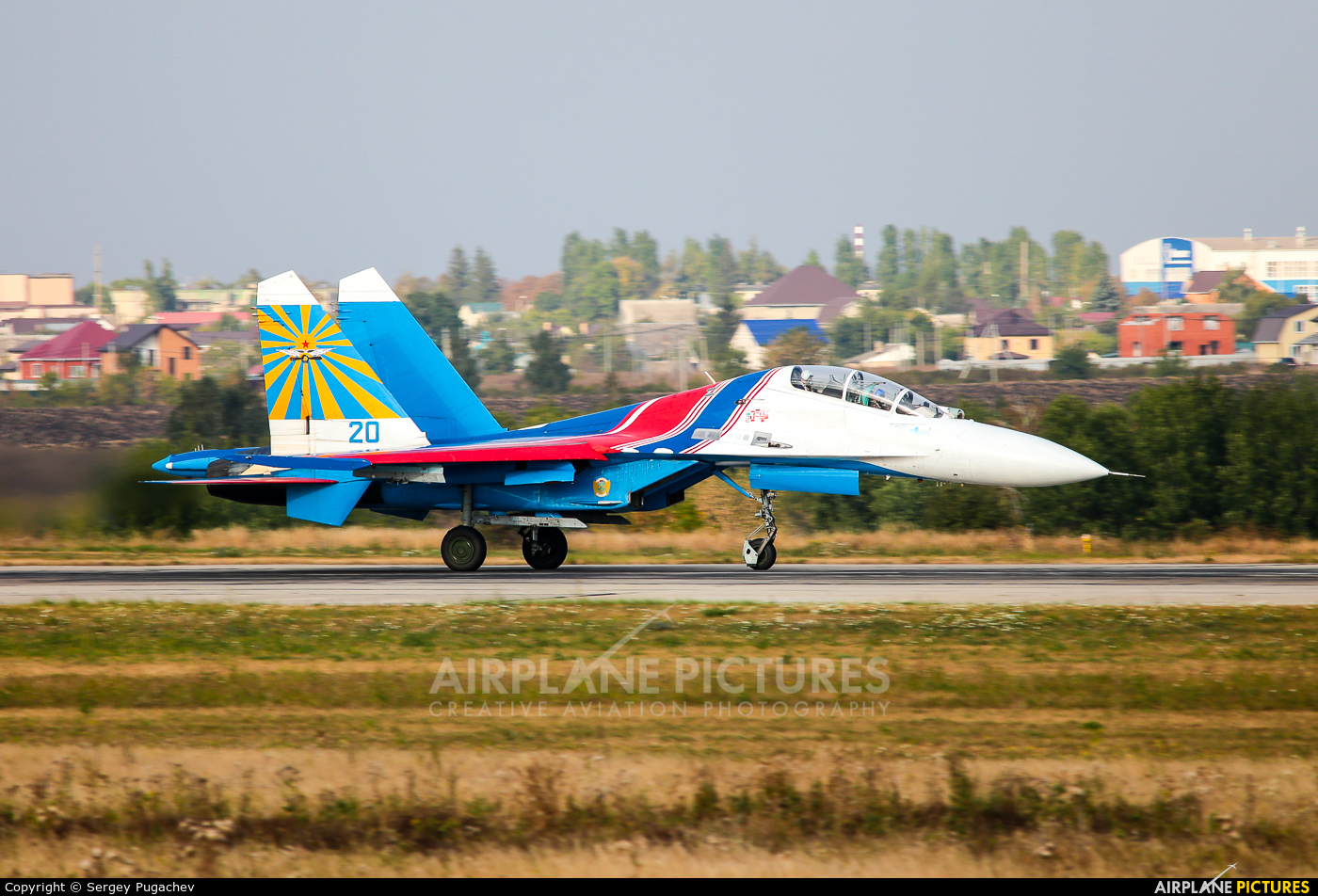 Russia - Air Force 20 aircraft at Lipetsk