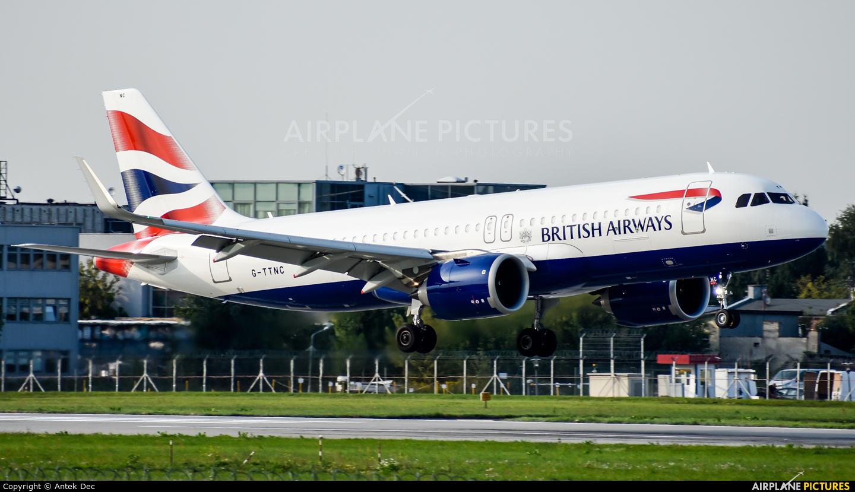British Airways G-TTNC aircraft at Warsaw - Frederic Chopin