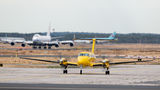 ADAC Luftrettung Beechcraft 300 King Air 350 D-CUTE at Frankfurt airport
