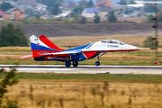 "RF-91944 - Russia - Air Force ""Strizhi"" Mikoyan-Gurevich MiG-29UB aircraft"
