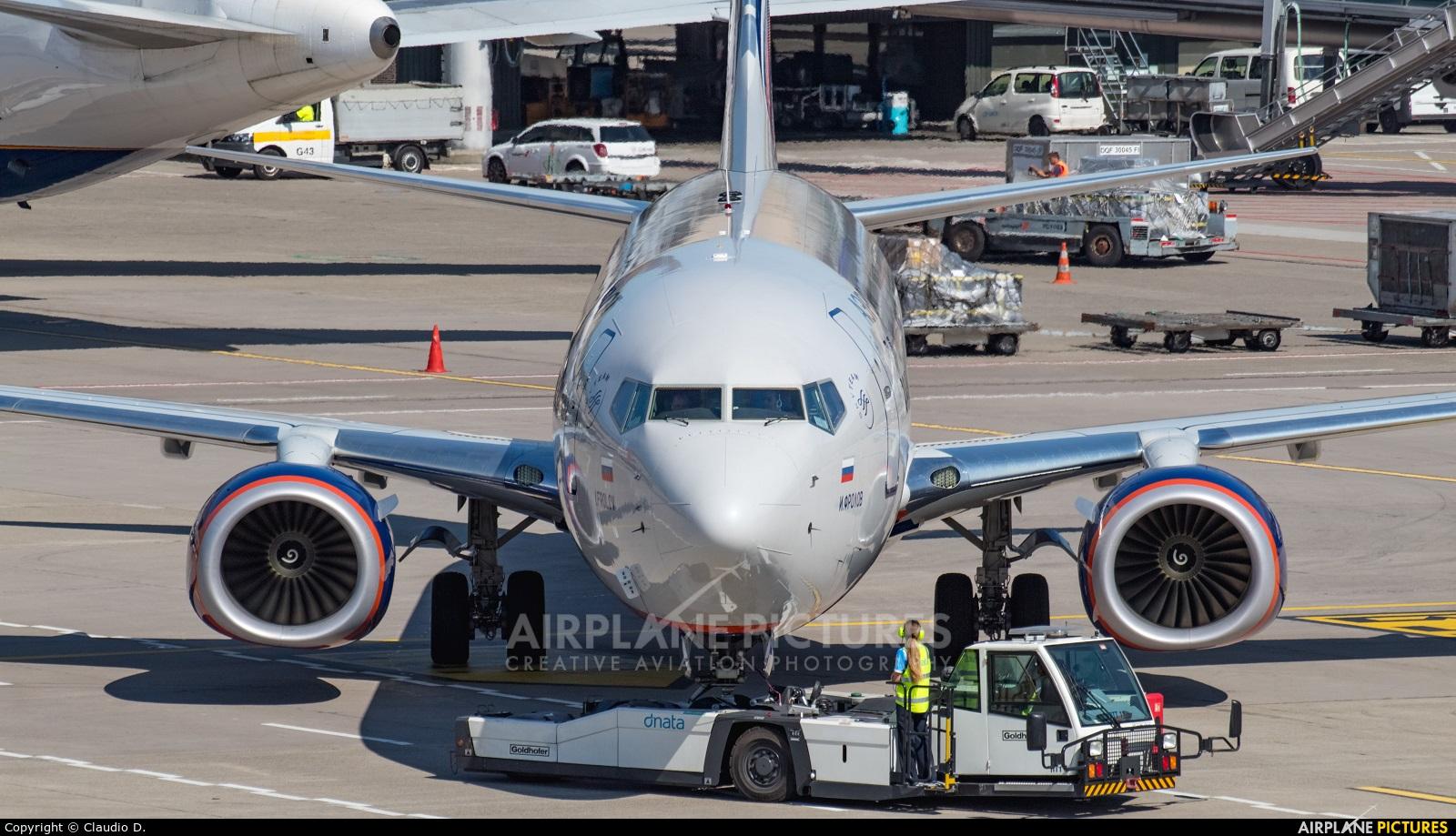 Aeroflot VQ-BHD aircraft at Zurich