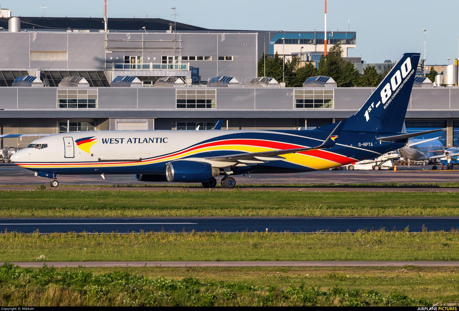 West Atlantic G-NPTA aircraft at Helsinki - Vantaa