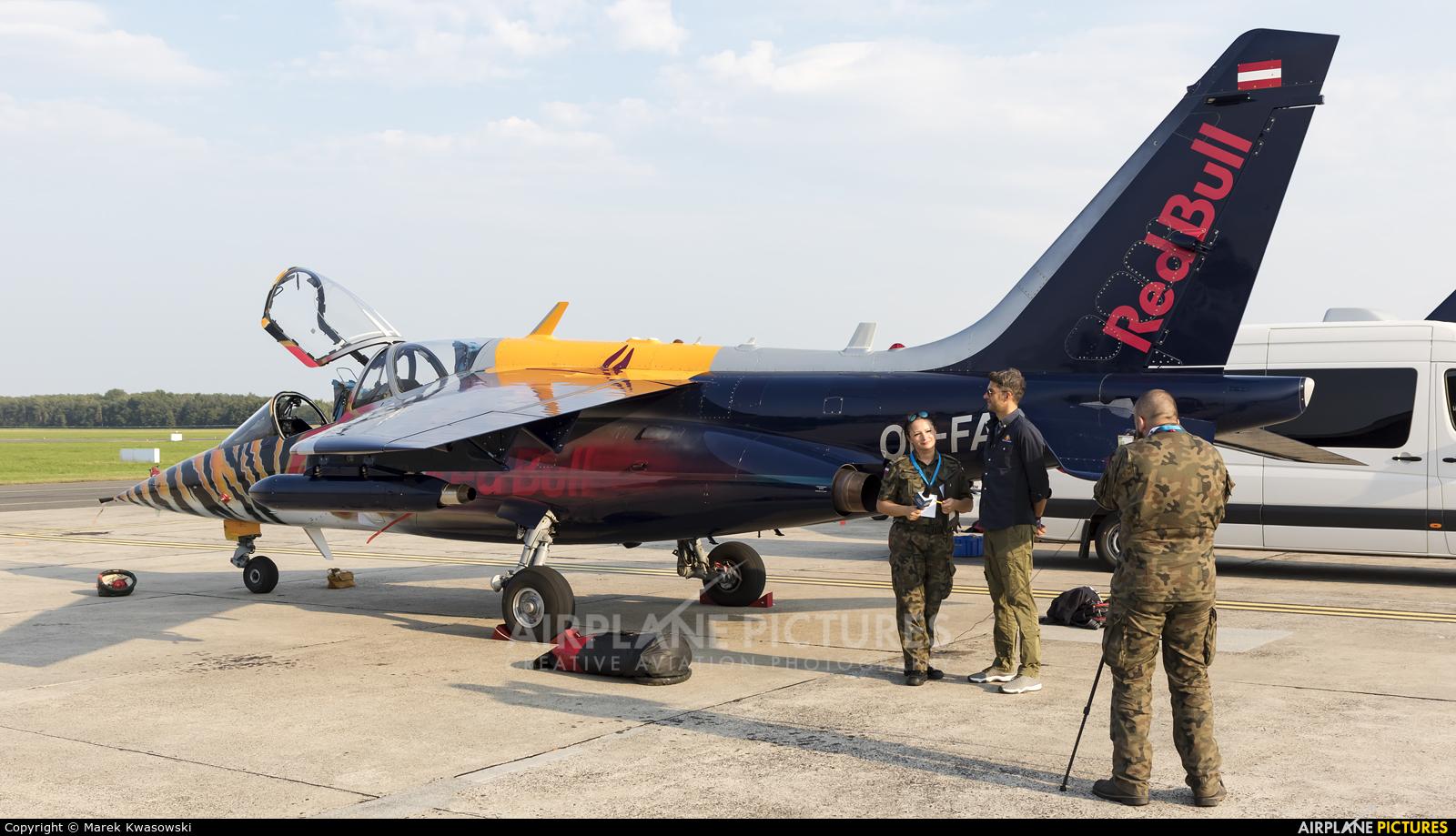 Red Bull OE-FAS aircraft at Radom - Sadków