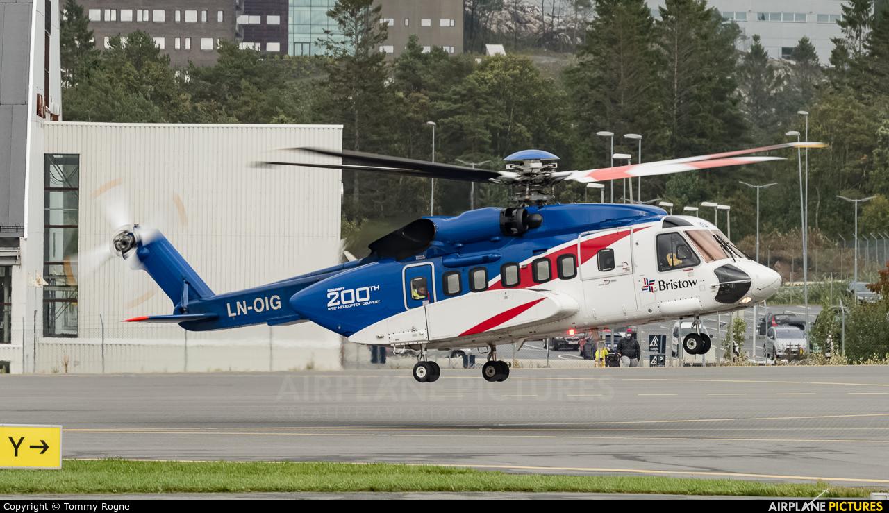 Bristow Norway LN-OIG aircraft at Bergen - Flesland