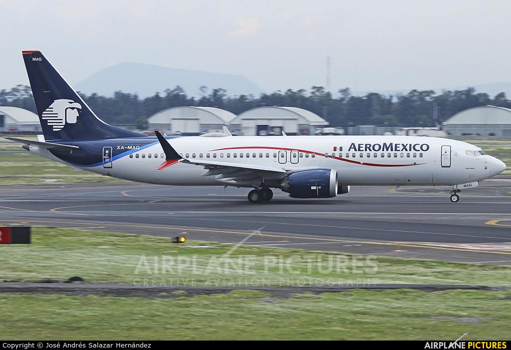 Aeromexico XA-MAG aircraft at Mexico City - Licenciado Benito Juarez Intl