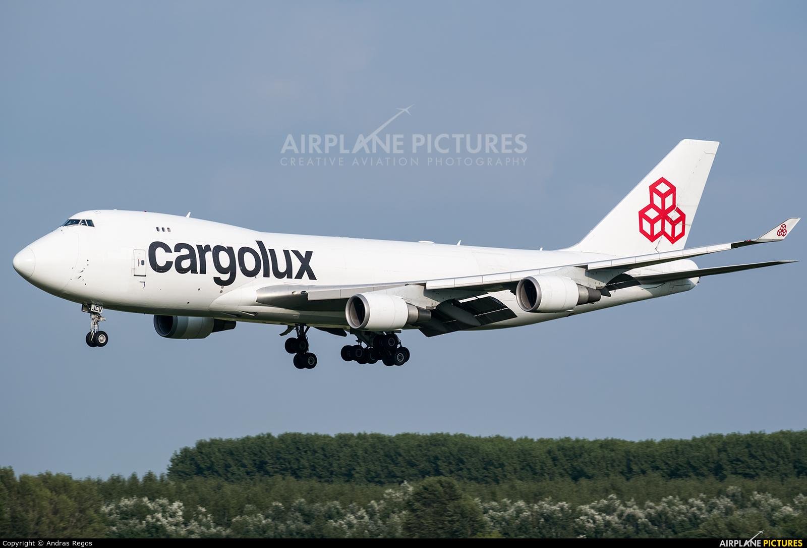 Cargolux LX-JCV aircraft at Budapest Ferenc Liszt International Airport