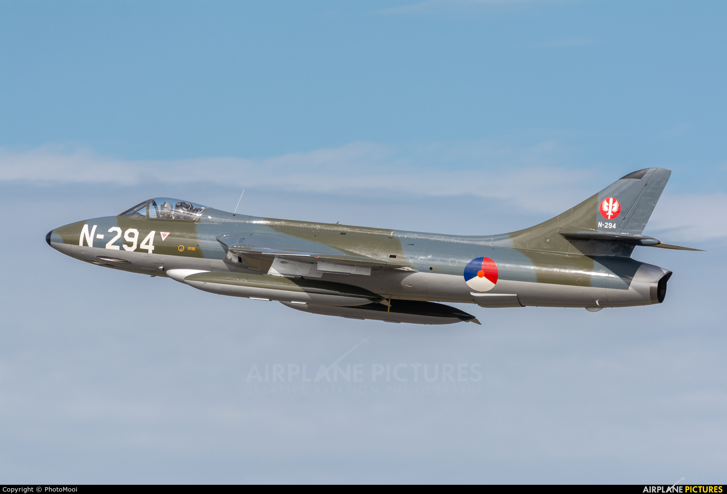 Dutch Hawker Hunter Foundation N-294 aircraft at Kleine Brogel