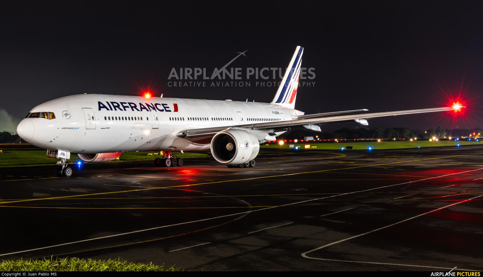 Air France F-GSPN aircraft at San Jose - Juan Santamaría Intl