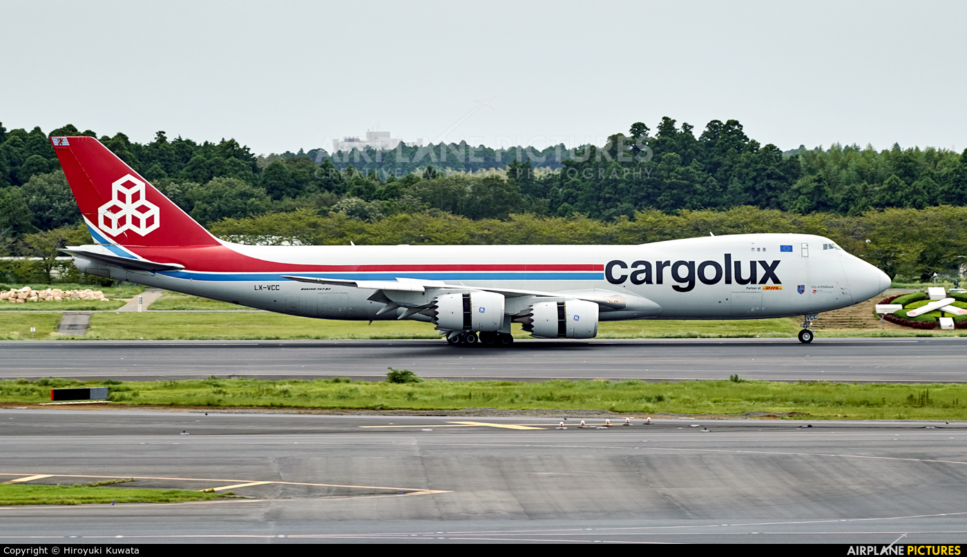 Cargolux LX-VCC aircraft at Tokyo - Narita Intl
