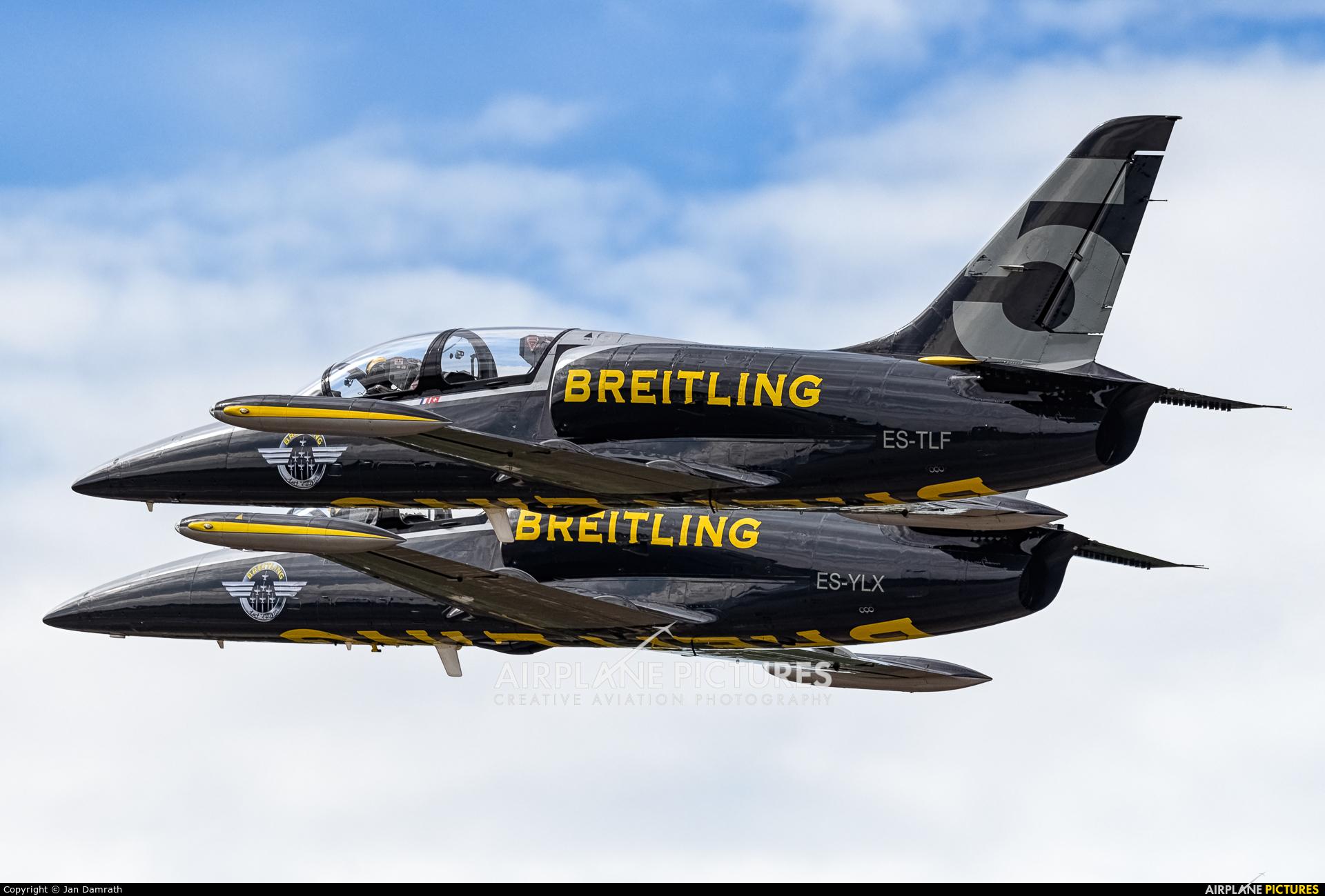 Breitling Jet Team ES-TLF aircraft at Kleine Brogel