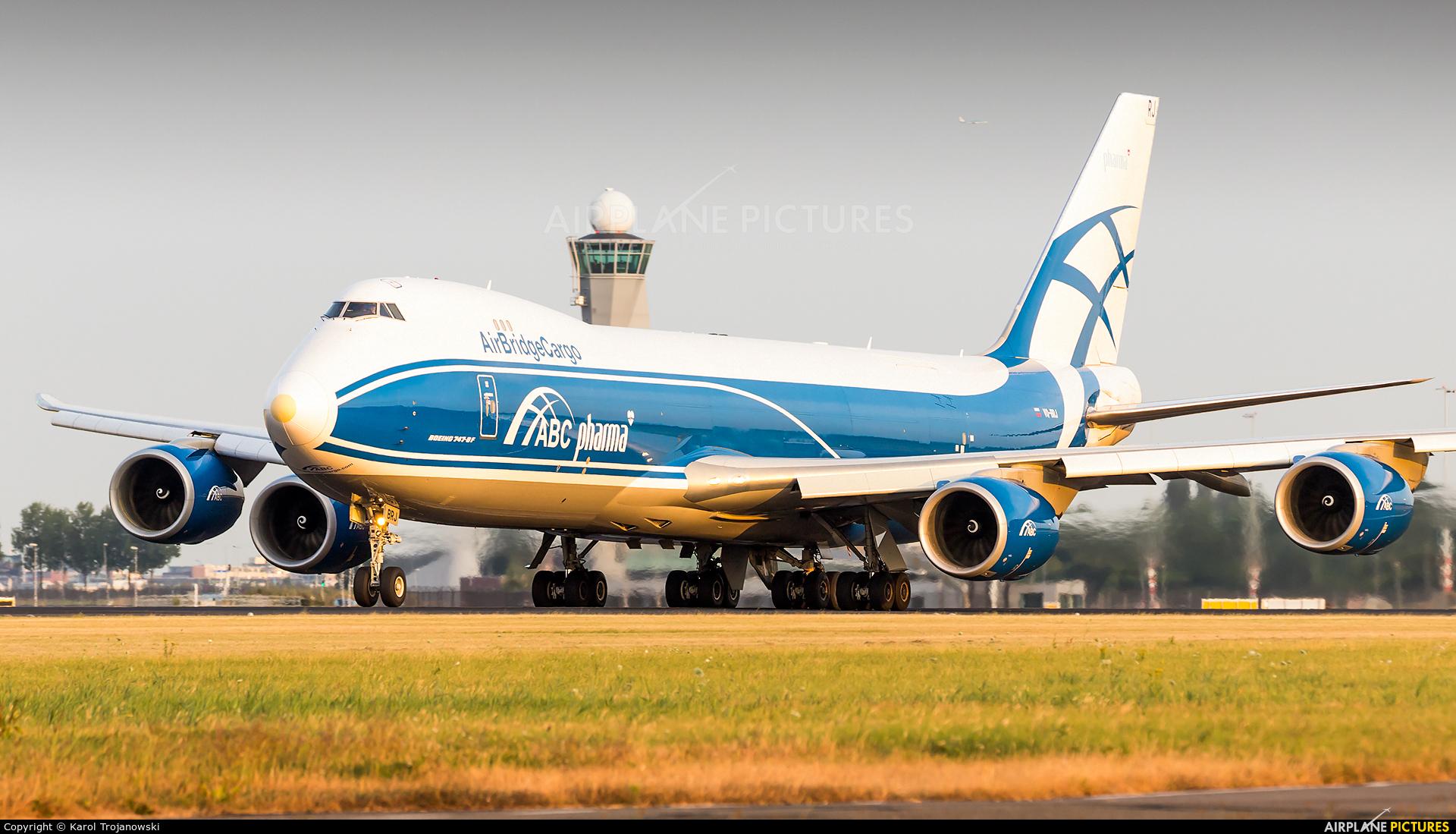 Air Bridge Cargo VQ-BRJ aircraft at Amsterdam - Schiphol
