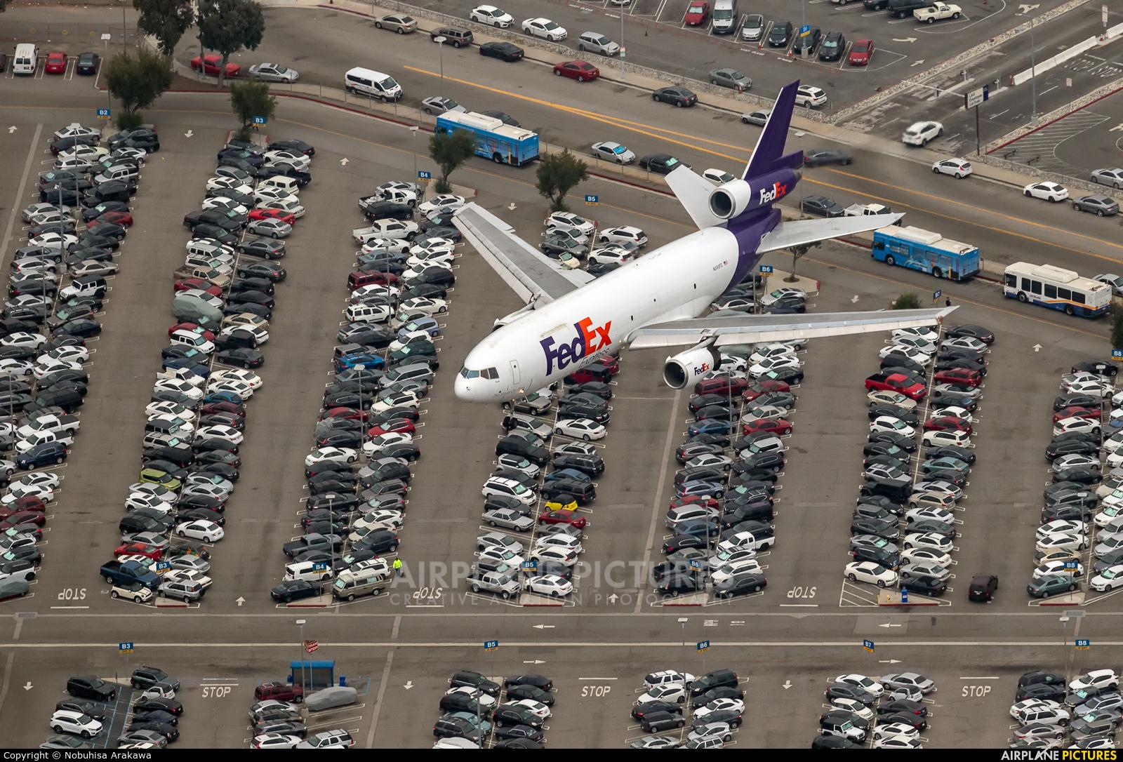 FedEx Federal Express N390FE aircraft at Los Angeles Intl