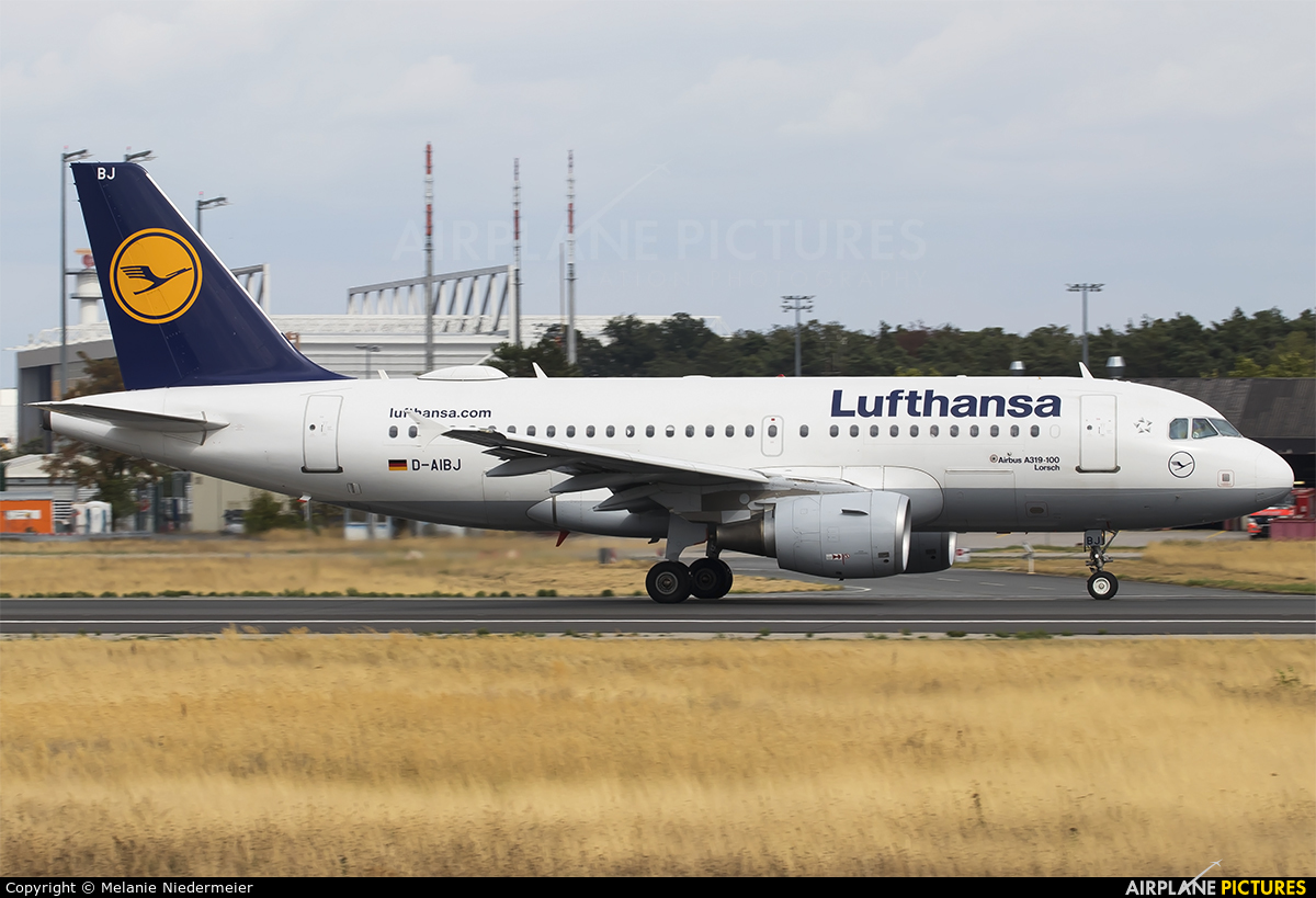 Lufthansa D-AIBJ aircraft at Frankfurt