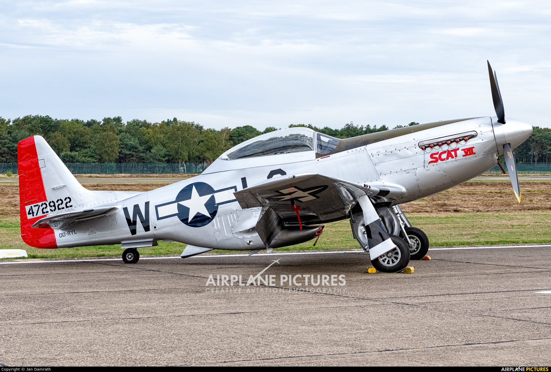 Private OO-RYL aircraft at Kleine Brogel