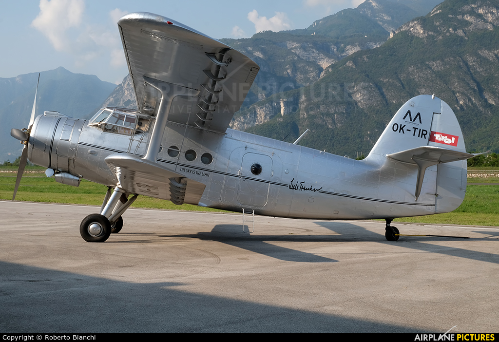 Tiroler Adler OK-TIR aircraft at Trento - Mattarello