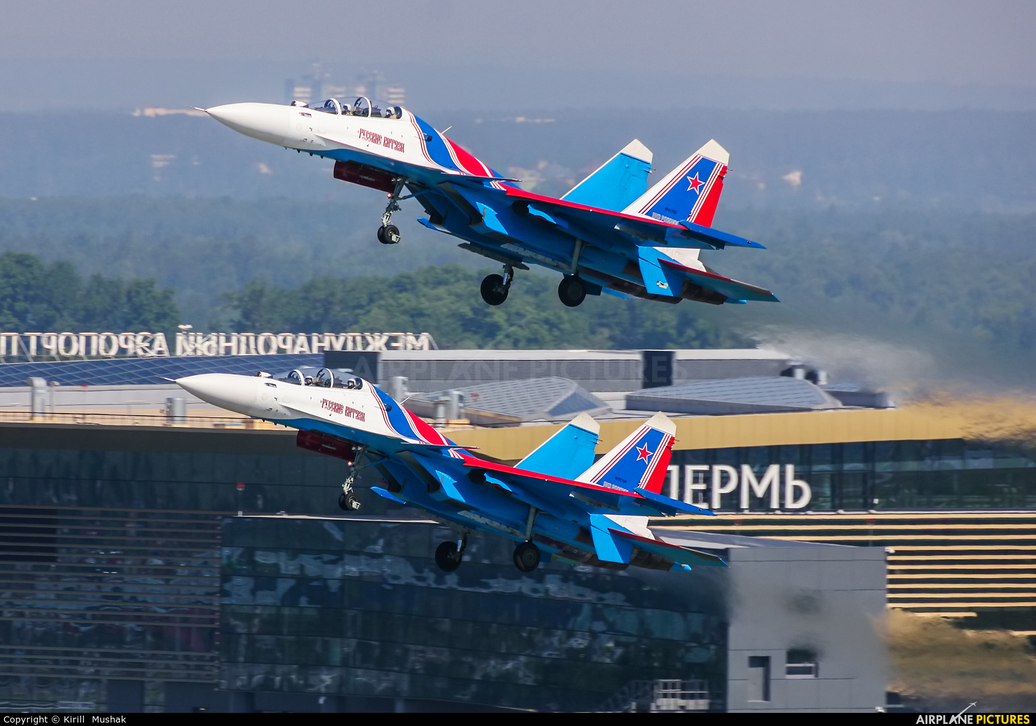 "Russia - Air Force ""Russian Knights"" RF-81702 aircraft at Bolshoe Savino - Perm"