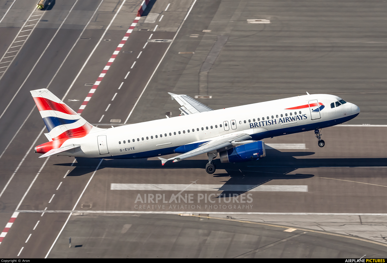British Airways G-EUYE aircraft at Gibraltar