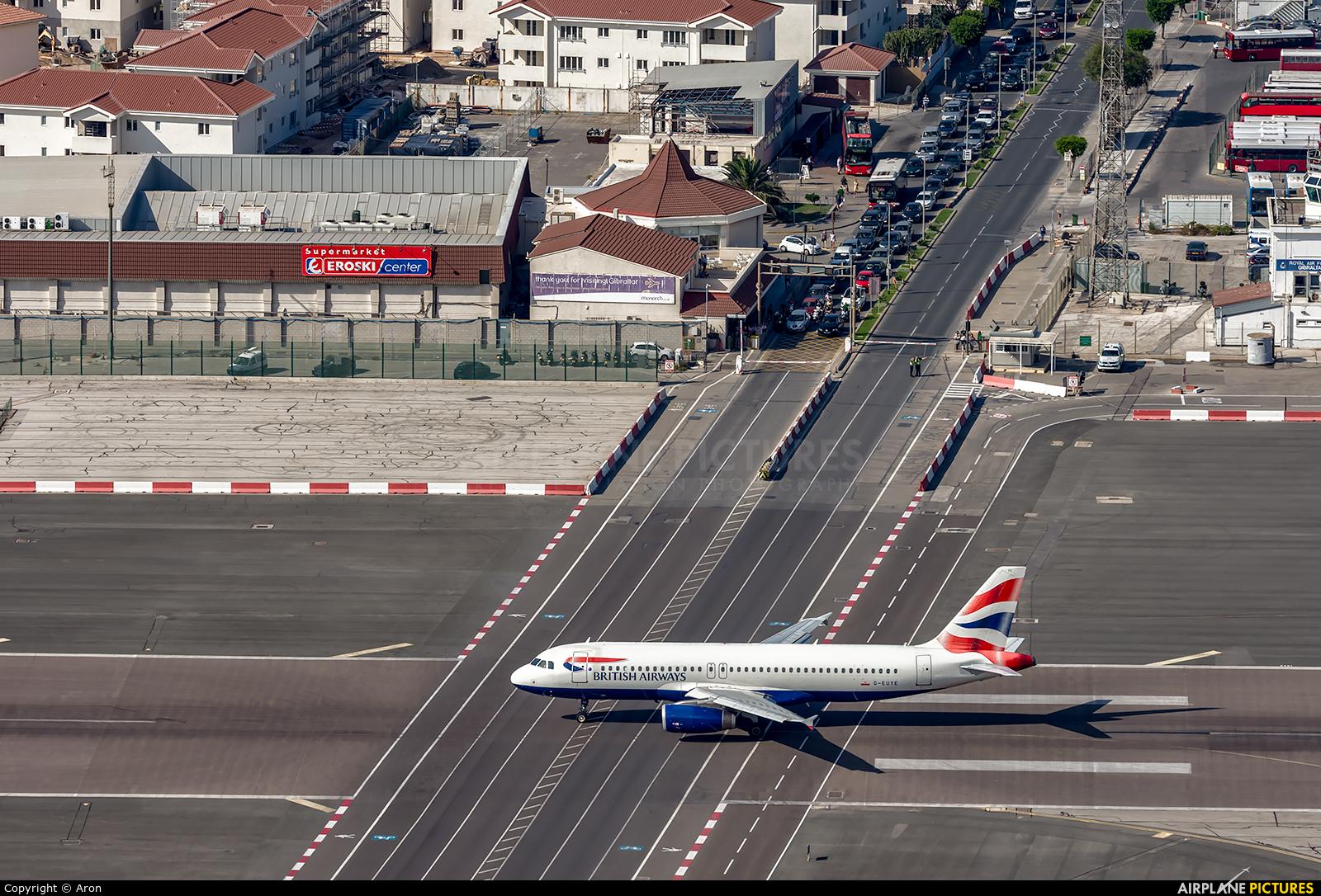 British Airways G-EUYE aircraft at Gibraltar