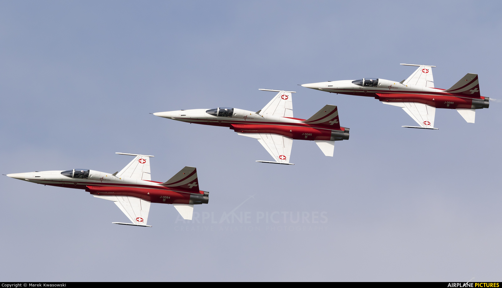 Switzerland - Air Force:  Patrouille de Suisse J-3085 aircraft at Radom - Sadków