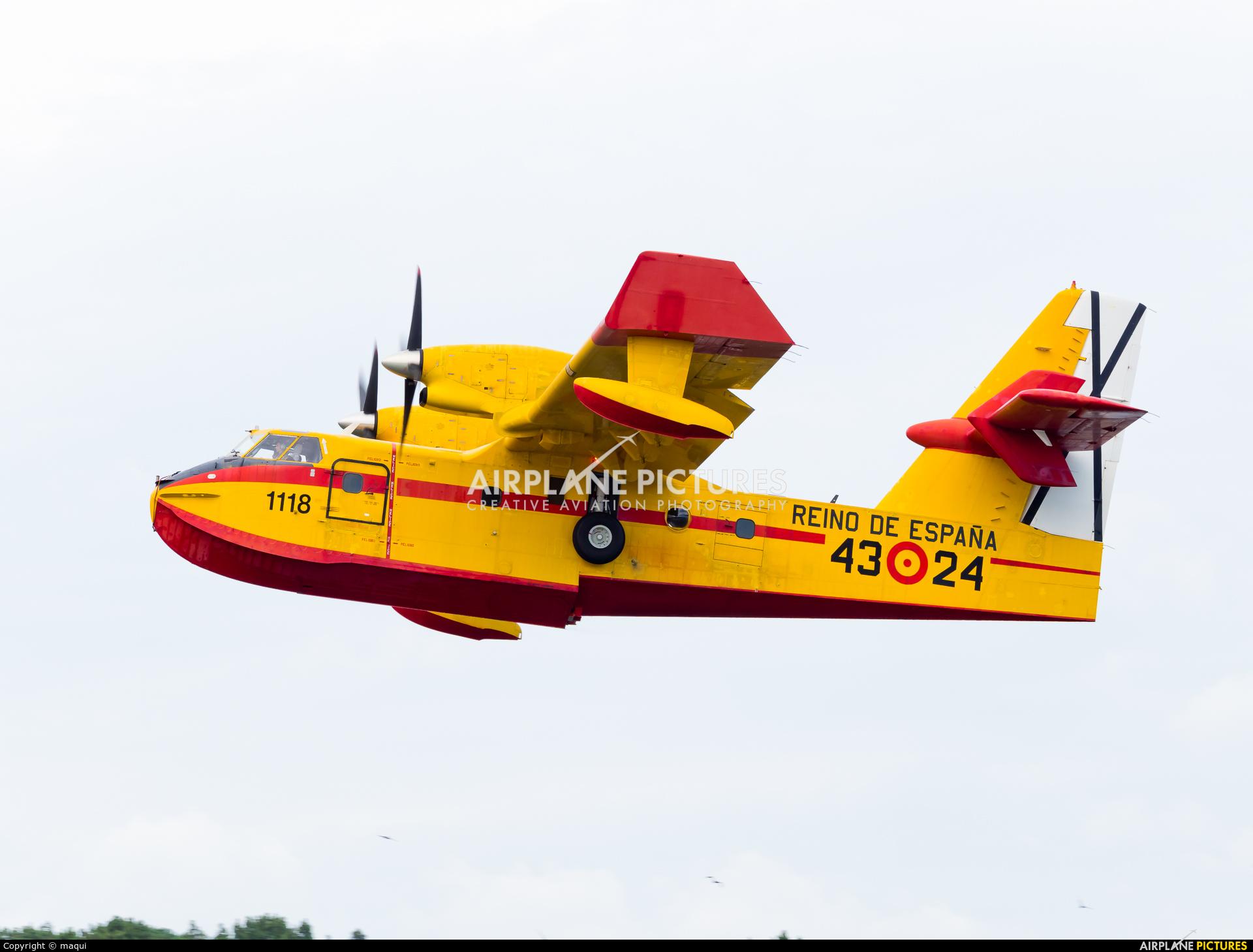 Spain - Air Force UD.13-24 aircraft at La Coruña - Off Airport