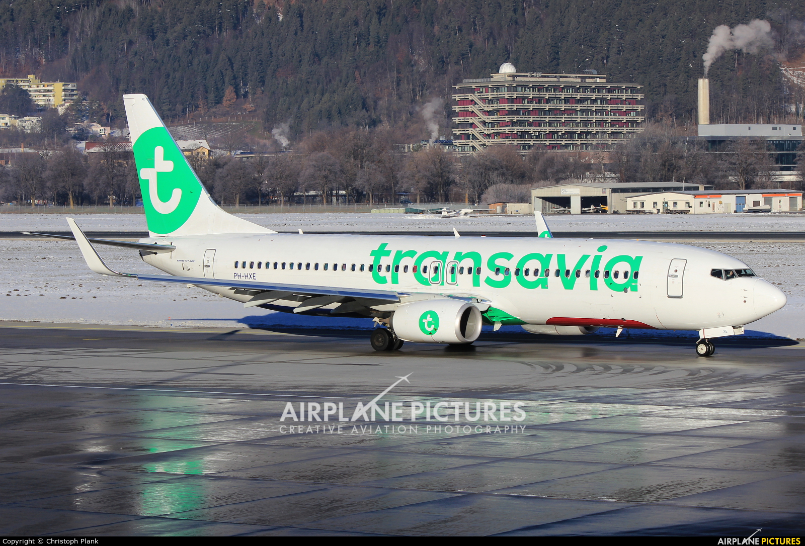 Transavia PH-HXE aircraft at Innsbruck