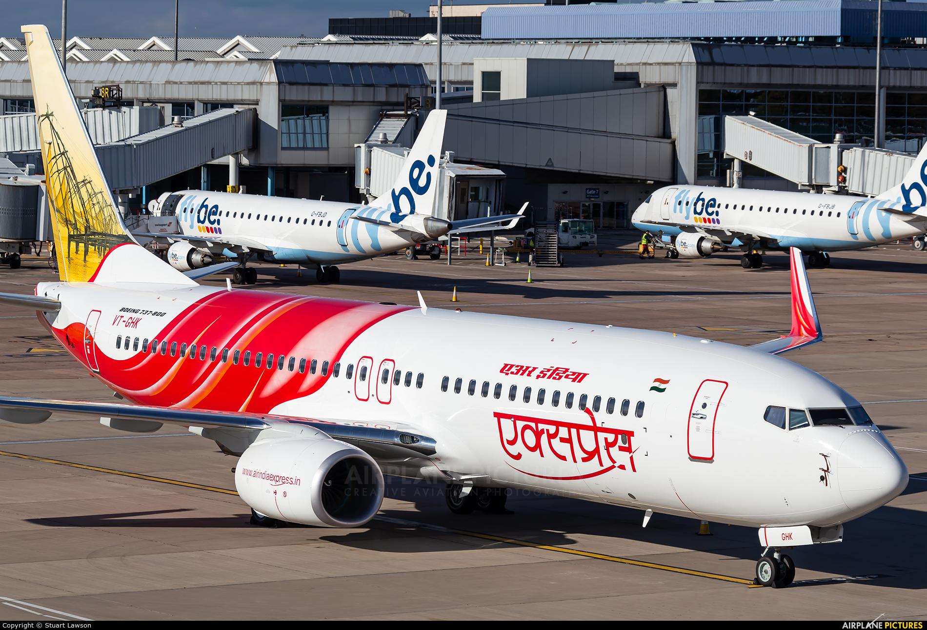 Air India Express VT-GHK aircraft at Birmingham