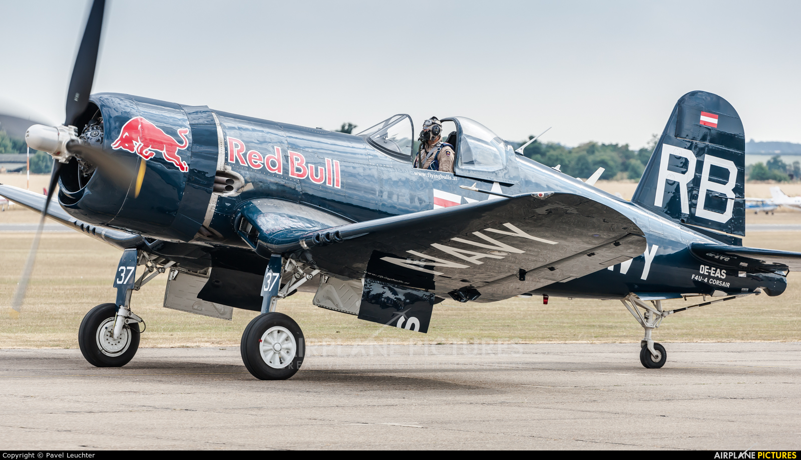 Red Bull OE-EAS aircraft at Duxford