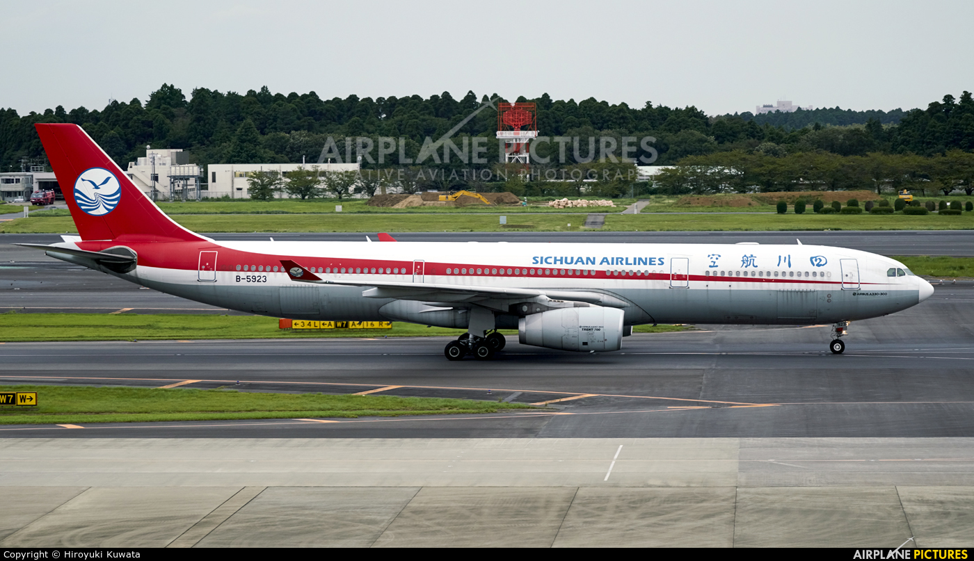 Sichuan Airlines  B-5923 aircraft at Tokyo - Narita Intl