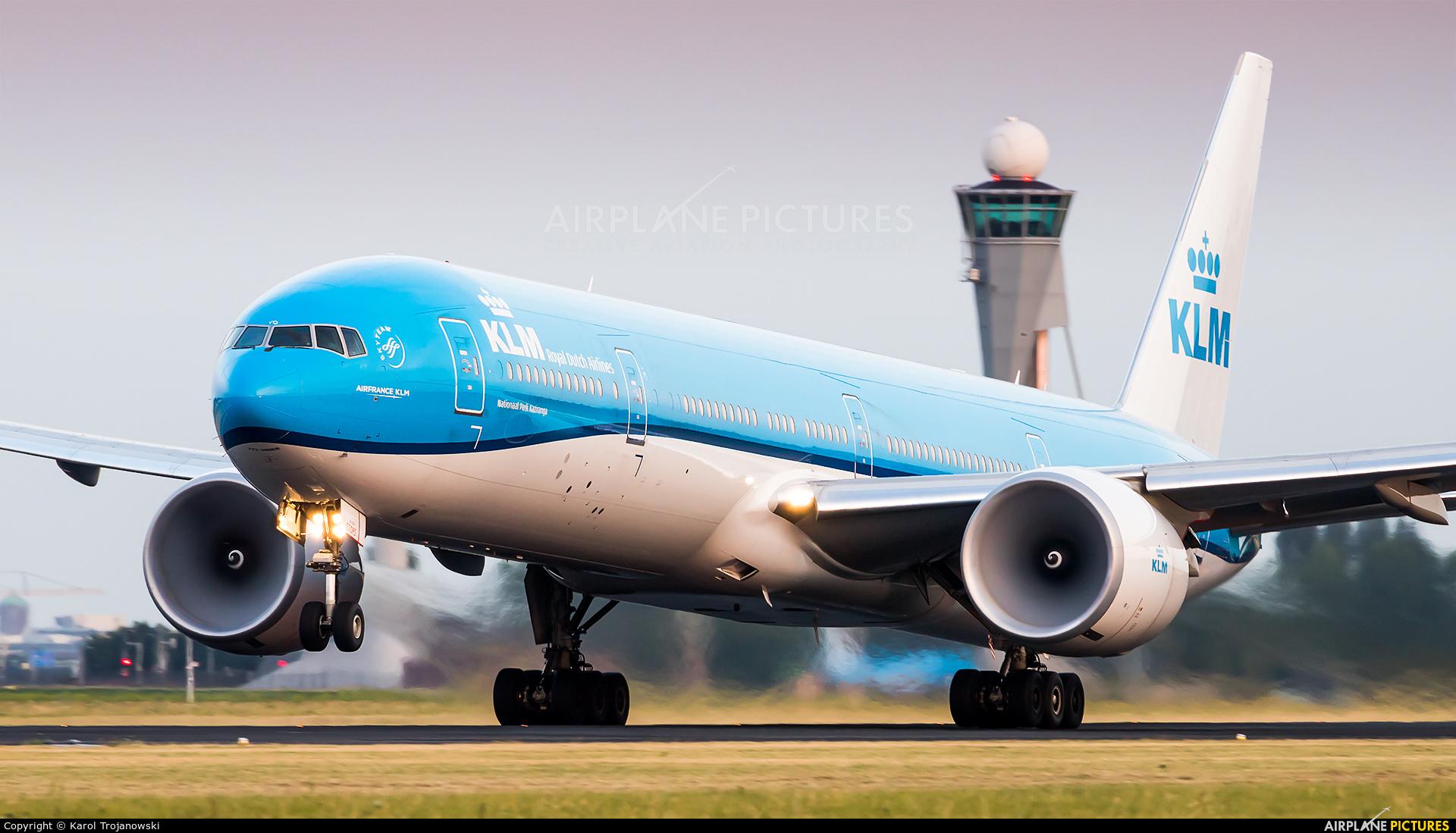 KLM PH-BVO aircraft at Amsterdam - Schiphol