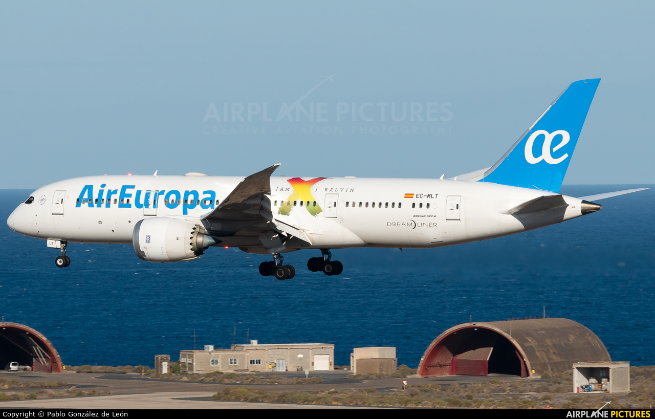 Air Europa EC-MLT aircraft at Aeropuerto de Gran Canaria