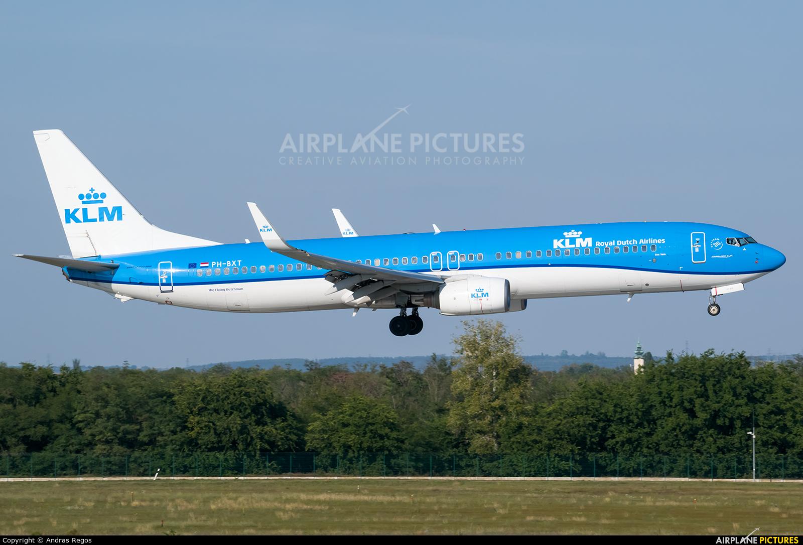 KLM PH-BXT aircraft at Budapest Ferenc Liszt International Airport