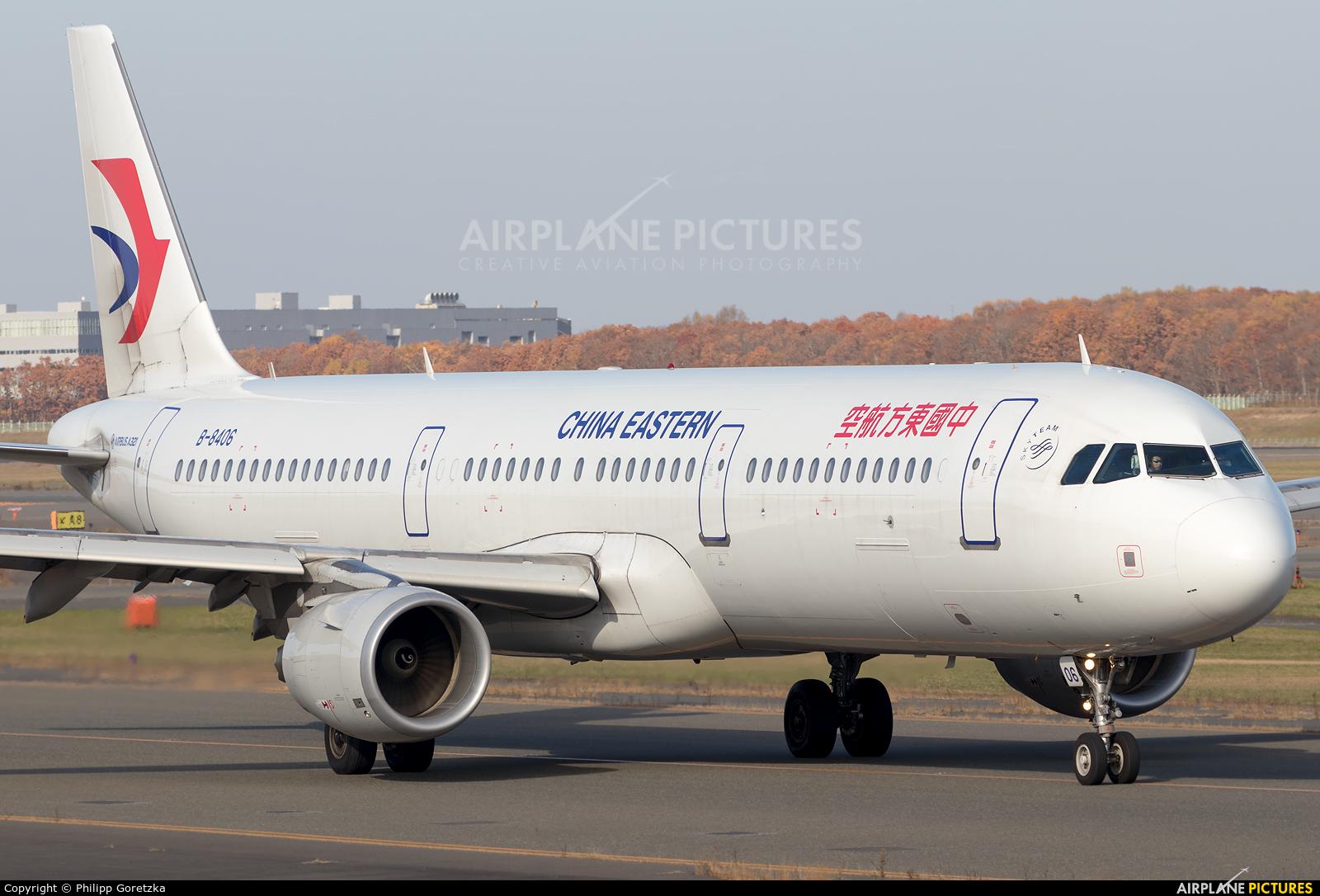 China Eastern Airlines B-8406 aircraft at New Chitose