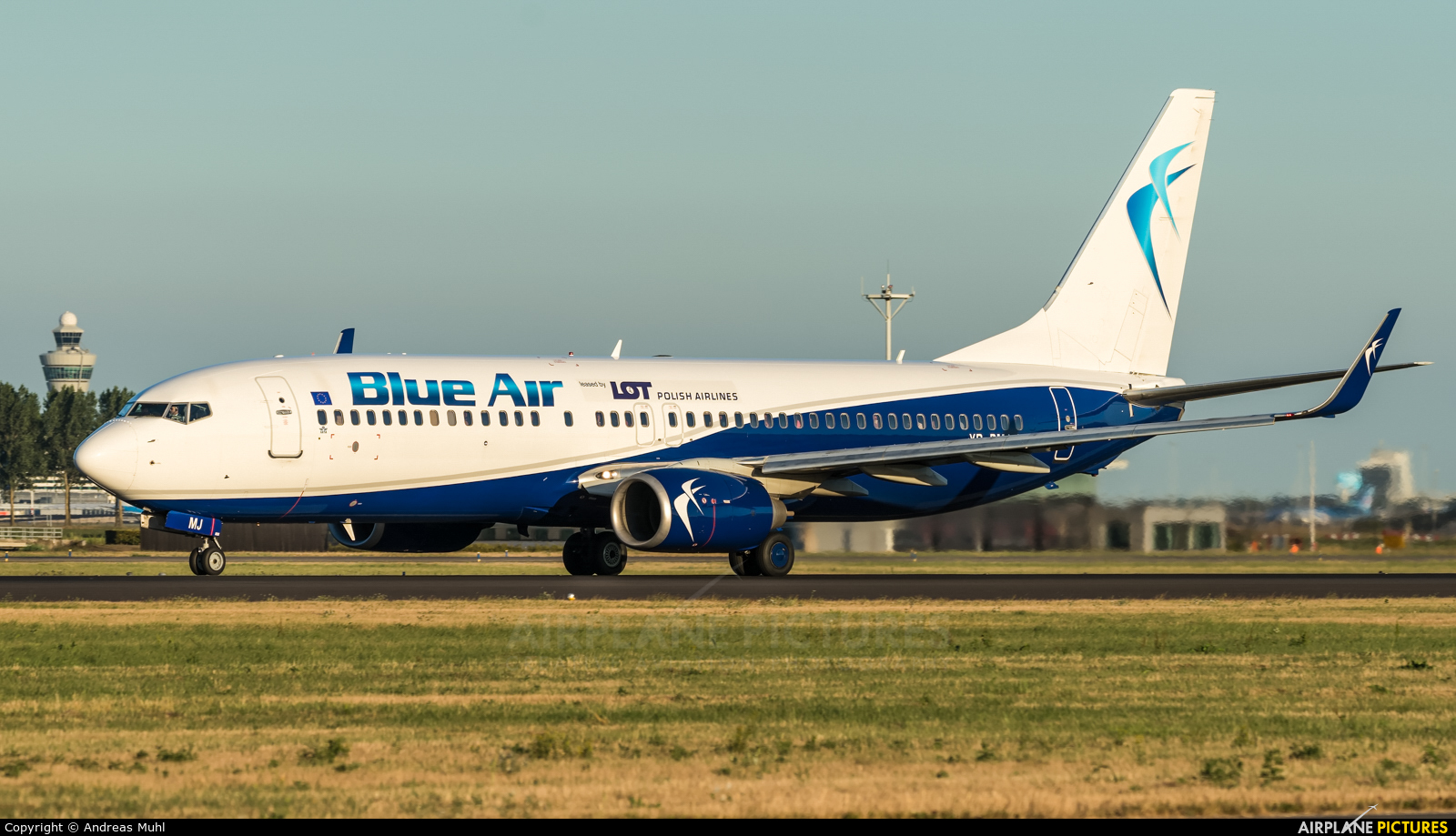 Blue Air YR-BMJ aircraft at Amsterdam - Schiphol
